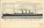 Allemagne - Carte Postale PAQUEBOT - KAISERIN MARIA THERESIA  - Seepost 1900 - Piroscafi