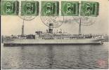 Allemagne - Carte Postale PAQUEBOT - ADOLPH WOERMANN - Seepost 1923 - Paquebots