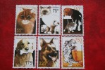 Katten Katze Cats Dogs Hunde Chiens NVPH 1341-1346 2001 MNH POSTFRIS NEDERLANDSE ANTILLEN  NETHERLANDS ANTILLES - Niederländische Antillen, Curaçao, Aruba