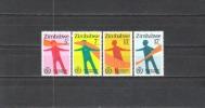 Simbabwe Zimbabwe 1981 Organisationen Vereinte Nationen UNO ONU Medizin Behinderte Blindheit, Mi. 251-4 ** - Zimbabwe (1980-...)