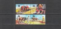 Simbabwe Zimbabwe 1983 Landwirtschaft Ackerbau Feldarbeit Plfügen Ochsengespann Traktoren, Mi. 276-9 ** - Zimbabwe (1980-...)