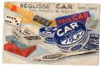 """38111-ZE-30-PUBLICITE-Réglisse """" CAR """"--NIMES---------EN L'ETAT - Reclame"""
