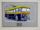 Calendar From Latvia 1990 Trolley Old - Kalender