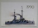 Calendar From Russia 1990 Ship Navy - Kalender