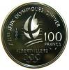 FRANCIA 100 FRANCS 1990 XVI JEUX OLYMPIQUES D´HIVER ALBERTVILLE 1992 AG SILVER PROOF - Commemorative
