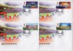 Russia 2015 4 FDC The World Cup FIFA 2018 In Russia Stadiums Football Soccer - 2018 – Rusia