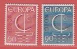 1966 ** (sans Charn., MUH, Postfris)  Yv  501/2Mi  547/8  NHK  581/2 - Unused Stamps