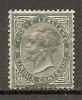 Yvert : N°  14  (o)  5c  Gris-vert   Cote  1,5 Euros  BE  2 Scans - 1861-78 Vittorio Emanuele II