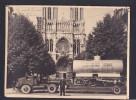 Photo Originale- Camion Semi Remorque Porte Wagon Systeme Lemoine Reims ( Devant La Cathedrale Agent Police Signature ) - Trains