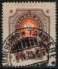 1891. Russian Type With Rings. 1 Mk. Dark Brown/brown-orange. (Michel: 45) - JF157296 - 1856-1917 Administration Russe