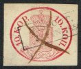 1856. Coat Of Arms. 10 KOP. Carmine. X + NYSLOT 3. JAN 185?. (Michel: 2x) - JF157072 - 1856-1917 Administration Russe
