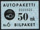 1949-1950. Rose And Triangels. 50 Mk Blue & Black. (Michel: 4) - JF157176