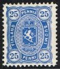 1885. Coat Of Arms. Perf. 12½. 25 P. Blue. Kliche 2. (Michel: 23) - JF157279 - Oblitérés