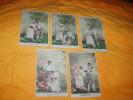 LOT DE 5 CARTES POSTALES ANCIENNES NON CIRCULEES DATE ?. / SERIE EPOUX OBSERVEZ LE DICTON.../ BEBE CHOUX COUPLE. - Fancy Cards