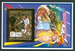 "1994 Madagascar ""Etats Unis"" Coppa Del Mondo World Cup Calcio Football Set Gold Printed Imperf. MNH** B612 - World Cup"