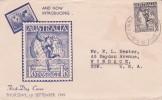 Australia 1949 Hermes Airmail FDC - FDC