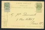 BELGIQUE - Entier Postal En 1905 Pour Paris -  A Voir - Lot P12735 - Stamped Stationery