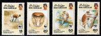 (cl. 2 - P.4) Brunei ** N° 431 à 434 (ref. Michel Au Dos) Singe : Le Nasique  - - Brunei (1984-...)