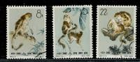 (cl. 2 - P.5) Chine Ob N° 1498 à 1500 (ref. Michel Au Dos) Singes   - - 1949 - ... République Populaire
