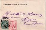 """N° 111 . TYPE BLANC . DE"""" VANNES """" . ( MORBIHAN ) . VIGNETTE . BREIZ UNVANIEZ . SYMBOLE DE LA HARPE CELTIQUE . 1904 . - Postmark Collection (Covers)"""