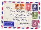 D - BRD 20.2.1950 Duisburg-Hamburg Stempel Luftpost Brief Nach Buenos-Aires Mit U.a. Michel.#117-120 Serie - BRD