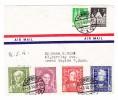 D - BRD 4.8.1950 Hamburg Luftpost Brief Nach Grand Rapids USA Mit U.a. Michel.#117-120 Serie - BRD