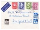 D - BRD 2.5.1958 Bonn Luftpost Brief Nach New-York USA Mit U.a. Michel.#117-120 Serie - BRD