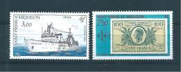 St Pierre Et Miquelon  De 1991  N°550 Et 551  Neufs ** Parfait, Prix De La Poste - Nuevos