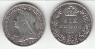 *** GREAT BRITAIN - GRANDE-BRETAGNE - 6 PENCE 1899 - SIX PENCE 1899 - VICTORIA - SILVER - ARGENT *** ACHAT IMMEDIAT !!! - 1816-1901 : Frappes XIX° S.