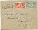 1927 NOUVELLES HEBRIDES LETTRE RECOMMANDE POUR LA FRANCE OBLITERE VILA 28 FEVR 27 - Brieven En Documenten