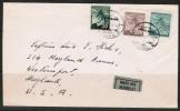 CZECHOSLOVAKIA   Scott # 258,261,262 On 1948 AIRMAIL COVER To WESTPORT,MD. USA - Czechoslovakia
