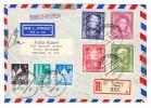 D - BRD 18.2.1950 Frankfurt Luftpost R-Brief Nach Chicago Mit U.a. Michel.#117-120 Serie - BRD