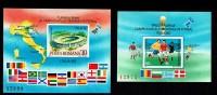 ROUMANIE ROMANA 1990, Yvert 208A/B Cote 40 Euros, ITALIA 90, 2 Blocs, Neufs / Mint. R516 - Copa Mundial