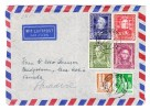 D - BRD 10.7.1950 München Luftpost Brief Nach Paradise Canada Mit U.a. Michel.#117-120 Serie - BRD