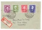 D - BRD 31.12.1949 Nordseebad Borkum Sonderstempel Mi. Serie #117-120 Auf R-Brief Nach Bad Kösen - BRD