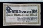 Billet, Allemagne, 2 Millionen Mark 1923 - 2 Millionen Mark