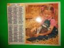 Calendrier 1989-oberthur Fillette-chevreau-oiseau-a L´interieur Yvelines-evry-haut De Seine Etc.. - Calendriers
