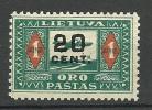 LITAUEN Lithuania 1922 Michel 180 * - Lithuania