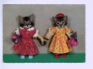 7623    CPM   Montage De 2 Petits Chats Se Donnant La Pate , Mignon Tout Plein !! - Cats