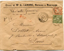 FRANCE LETTRE CHARGEE AFFRANCHIE AVEC UN N°82 ET UN N°94 DEPART MONTBARD 9 NOV 82 COTE-D'OR POUR LA FRANCE - Marcophilie (Lettres)