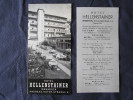 Old Tourist Brochure - Austria, Innsbruck, Hotel Hellenstainer 1957 (German, Italian, English) And Sticker - Folletos Turísticos