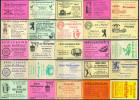 25 Alte Gasthausetiketten Aus Berlin, Deutschland Mit Postleitzahl 1000, #7 - Luciferdozen - Etiketten