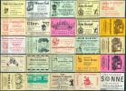 25 Alte Gasthausetiketten Aus Berlin, Deutschland Mit Postleitzahl 1000, #8 - Luciferdozen - Etiketten