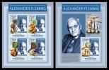 TOGO 2013 - Alexander Fleming - YT 3288-91 + BF682; CV = 32 € - Pharmacy