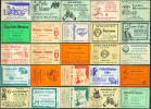 25 Alte Gasthausetiketten Aus Berlin, Deutschland Mit Postleitzahl 1000, #9 - Luciferdozen - Etiketten