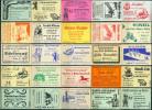 25 Alte Gasthausetiketten Aus Berlin, Deutschland Mit Postleitzahl 1000, #10 - Luciferdozen - Etiketten