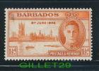 "TIMBRES - BARBADOS - ""1 1/2 D""  8 JUIN 1946 - NEUF SANS TRACE DE CHARNIERE - POSTAGE & REVENUE - - Barbades (1966-...)"