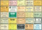 25 Alte Gasthausetiketten Aus Hamburg, Deutschland Mit Postleitzahl 2000, #6 - Luciferdozen - Etiketten