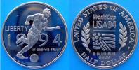 USA 50 C 1994 CU NI PROOF USA 94 WORLD CUP FOOTBALL COUPE MUNDIAL SOCCER CONSERVAZIONE FONDO SPECCHIO UNC. - Stati Uniti