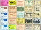 25 Alte Gasthausetiketten Aus Hamburg Und Umgebung, Deutschland Mit Postleitzahl 2000, #9 - Luciferdozen - Etiketten